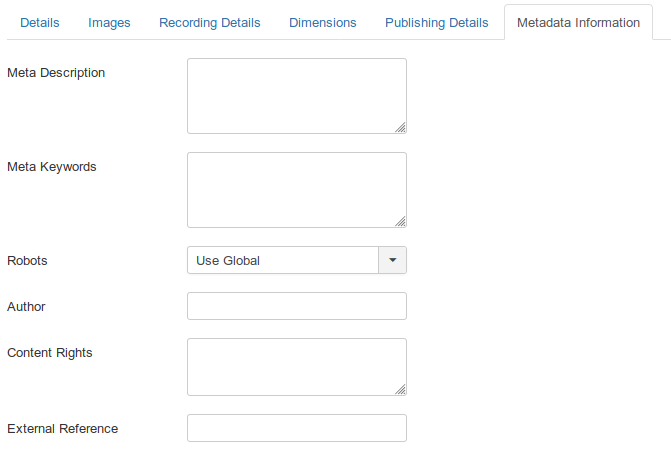 MyMuse Product   Metadata   Administration